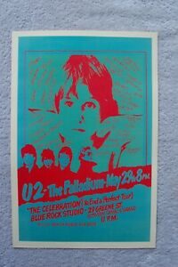 U2 Concert Tour Poster 1981 The Palladium__