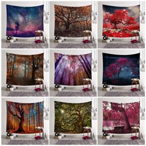 Mehrfarbiger Wandbehang Wandtuch Bateruni Hippie Wandteppich 150x130 cm Abstrakte Bunte Moderne dekorative Tapisserie f/ür Schlafzimmer Wohnheim