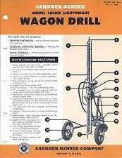 Equipment Brochure - Gardner-Denver - Lhlrm - Wagon Drill Mining c1962 (E3559)