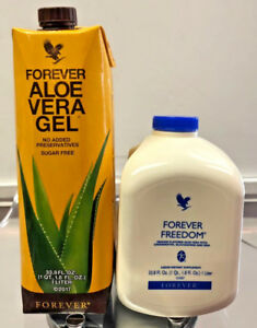 1 Forever Living Aloe Vera Gel & 1 Forever Freedom Orange 33.8 Fl. Oz  FREE SHIP