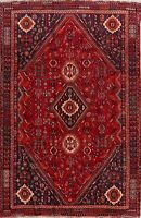 Vintage Tribal Lori Hand-Knotted Geometric Area Rug Nomadic Oriental Carpet 6x9