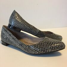M&S Footglove Women's Leather Black And White  Flat Shoes Immaculate uk 6.5.