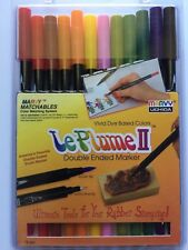Marvy Le Plume II Markers GARDEN 1122-12F Double Ended Set of 12 pc NEW