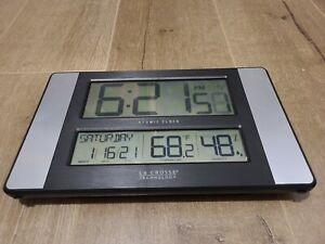 (READ DESCRIPT) 513-1417H-AL La Crosse Technology Atomic Digital Wall Clock 7729