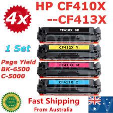 4x 410X CF410X CF411X CF412X CF413X Toner for HP M477fdw M452dw M452dn M377dw