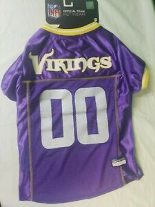 Dog Jersey ~ NFL Minnesota Vikings ~ Pets First Size Large [up to 40 Lbs]