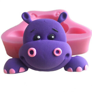 Hippo Silicone Animal Mould Fondant Jelly Chocolate Soap Mould Cake Decorating