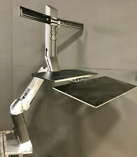 Ergotron Workfit-A Dual Worksurface Stand - Stainless Steel & Black