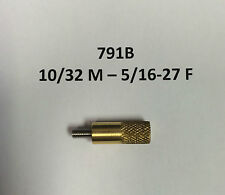 SpinJag Adapter  791B 10/32 M - 5/16-27 F , Standoffs Brass