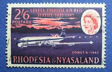 1962 RHODESIA AND NYASALAND 2S6d SCOTT# 182 S.G.# 42 USED               CS09573