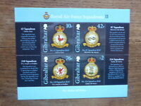 GIBRALTAR 2013 RAF SQUADRONS II 4 STAMP MINI SHEET MINT STAMPS MNH