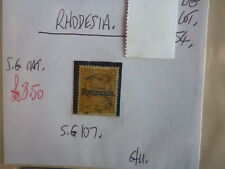 RHODESIA STAMP S.G. 107 1/- G.U.