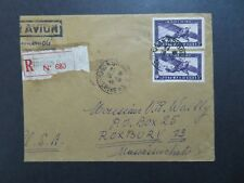 Indo China 1945 Registered Airmail Cover to USA - Z8458