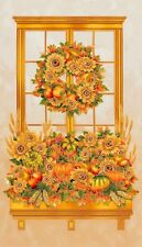 Fall Harvest Shades of the Season 10 100% cotton fabric panel approx 23 x 44