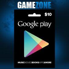 Crédito de tienda Google Play $10 sólo EE. UU. dólares Android USD Estados Unidos Digital
