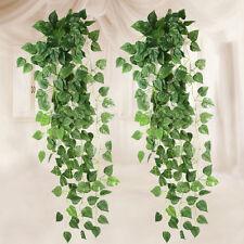 2pcs 5.6ft Fake Ivy Garland Plant Decorative Plastic Plant Artificial Scindapsus
