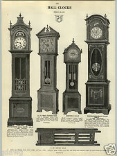1914 PAPER AD Dutch Mission Style Hall Grandfather Clock Westminster Moon Dial