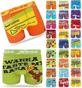 Mens Boxer Shorts Beaver Character Funny Rude Novelty Xess Underwear Assorted