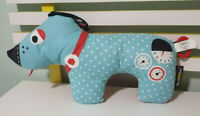 YOOKIDOO DOG BABY TOY RED AND BLUE DOG 46CM LONG DACHSHUND 2014 GYMOTION