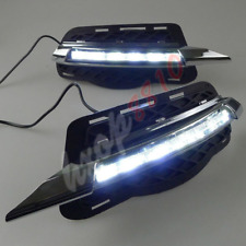 LED Fog Lights Daytime Running Lights DRL For 2014 Mercedes Benz W204 C-Class