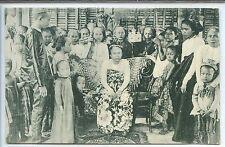 Singapore Postcard - Princess Radja Putri aud Attendats- Cottabato P.I.