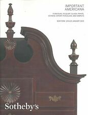 SOTHEBY'S AMERICANA Furniture Folk Art Silver Prints Chinese Export Carpets Flag
