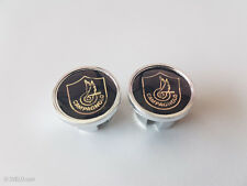 Vintage style Campagnolo shield black / gold Handlebar End Plugs