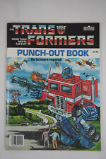 TRANSFORMERS PUNCH-OUT BOOK, Vintage 1985 Hasbro & Marvel Books, New & Unused!