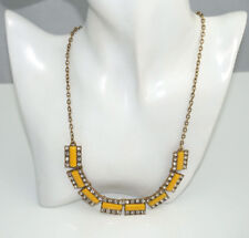 J.Crew Factory Yellow Stone & Crystal Necklace