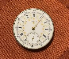 Antique Pocket Watch - Elgin Fancy Dial 40 mm And Movement- For Parts Or Repair