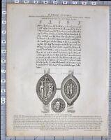1825 LONDINA ILLUSTRATA LONDON PRINT ST HELEN'S NUNNERY SEAL OF DEAN ST PAULS