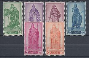 Belgium Sc B426-B431 MLH. 1946 Semi Postals to Aid War Charities, VF