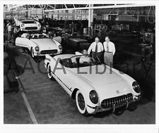 1953 Corvette Convertible Coupes on assembly line, Factory Photo (Ref. #35713)