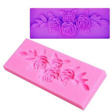 3D Rose Flower Leaf Rose Fondant Cake Mold DIY Decorating Tools Sugarcraft DB