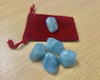 1 Polish Beryl Tumble Stone Aquamarine Crystal Specimen Wicca Reiki Chakra 8-10g