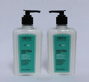 C.O. Bigelow Mentha Vitamin Body Lotion #1412 Set of 2 Pump Bottles 10 oz each