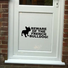 Beware of the French Bulldog Vinyl Door Sticker for Dog Lovers- Christmas
