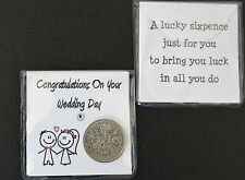 LUCKY SIXPENCE COIN FOR BRIDE AND GROOM FOR WEDDING DAY KEEPSAKE