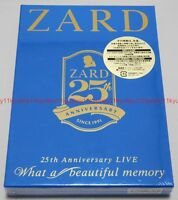 New ZARD 25th Anniversary LIVE What a beautiful memory 3 DVD Booklet Japan F/S