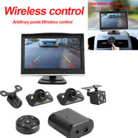 360 Degree Bird View System + 4 Camera Car DVR Recording Cam with 5in Monitor