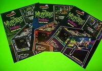 The Munsters Pinball Machine FLYERS Set Of 3  Halloween Horror TV Monsters Art