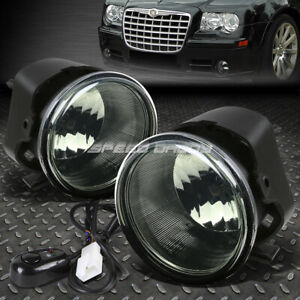 FOR 05-10 CHRYSLER 300 08-09 DODGE CALIBER SRT-4 FOG LIGHT LAMP W/SWITCH SMOKED