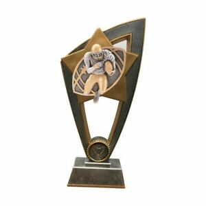 American Football Resin Star Trophy In 2 Sizes With Free Engraving Of 45 Letters