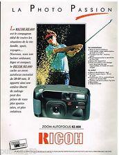 Publicité Advertising 1992 Appareil Photo Ricoh Zoom Autofocus RZ-800