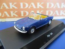 Die cast 1/43 Modellino Auto Fiat 124 Spider blu met. by Starline