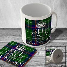 MAC_CLAN_1561 Keep Calm I'm a Duncan (DUNCAN Modern Tartan) (Crown design) - Sco
