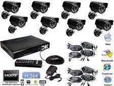 KIT VIDEOSORVEGLIANZA DVR HDMI + 8 TELECAMERE + CAVI