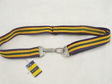 NEW! Ralph Lauren Rugby Grosgrain Belt! S/M Small Medium  Yellow & Green Stripe