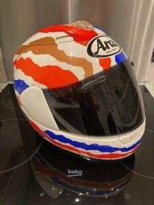 Arai Giga 2 Doohan replica helmet USED Memorabilia not road use.