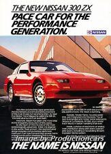 1986 Nissan 300ZX Turbo 300-ZX Original Advertisement Print Art Car Ad J714